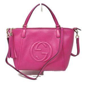 Authentic GUCCI Soho Calfskin Crossbody Bag